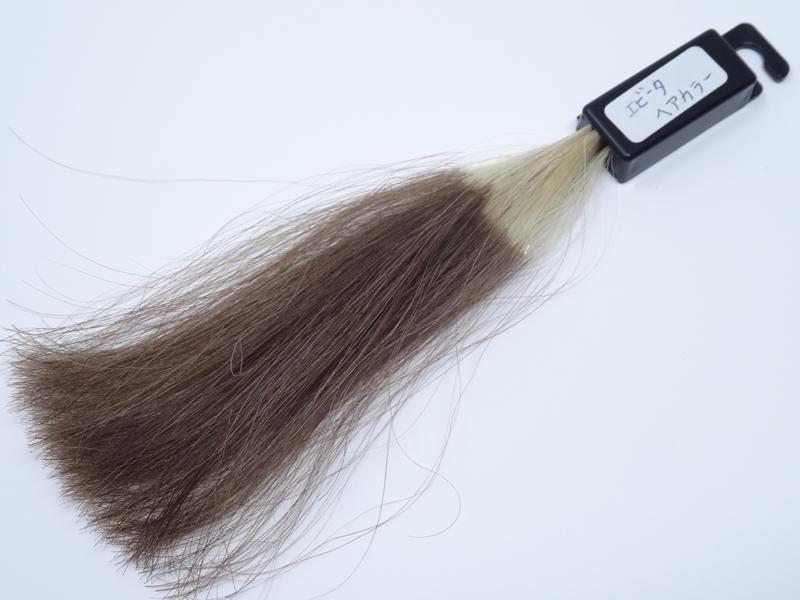 エビータ ヘアカラー 白髪100% 染め後