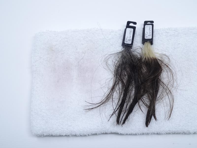 ビゲン香りのヘアカラー タオルへの色移り