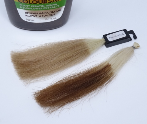ナチュールバイタル 白髪とブリーチ毛との染まり差