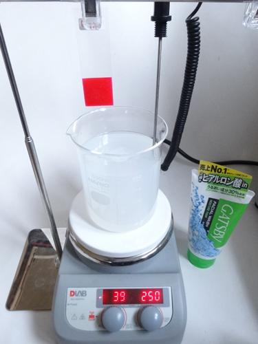 ギャツビー モイスチャー 洗浄力試験①